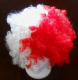 Red and White Afro Wig.